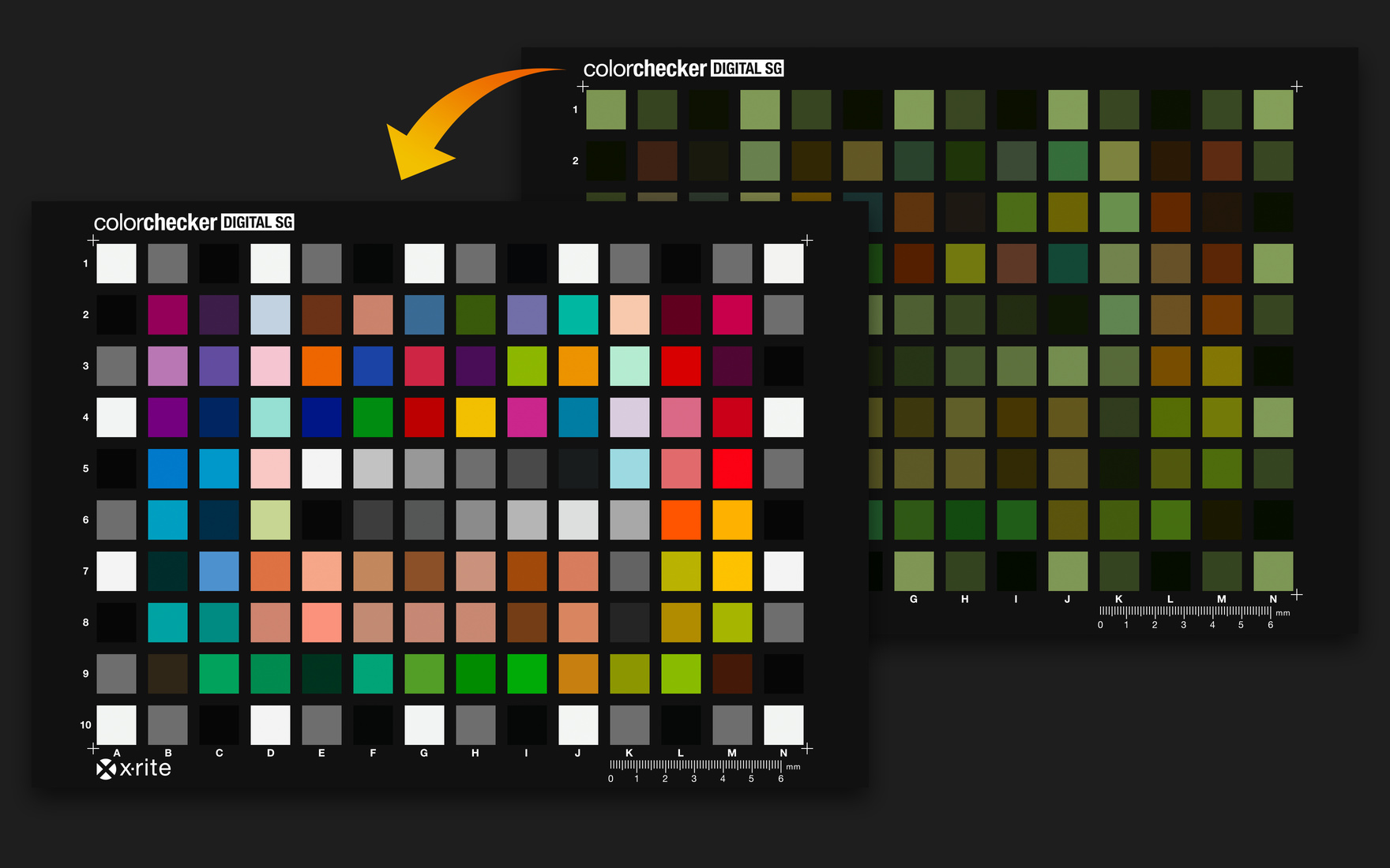 Color calibration using a ColorChecker Digital SG